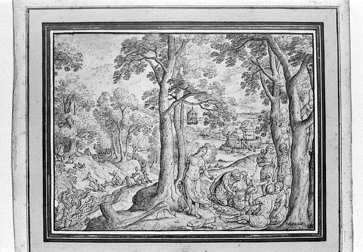 La construction de l'Arche de Noé et la famille de Noé