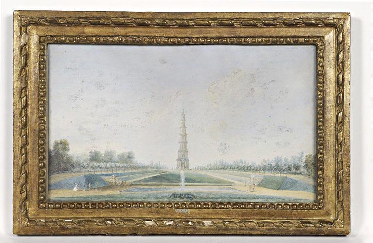 BLARENBERGHE Louis Nicolas van (attribué à) : La Pagode de Chanteloup