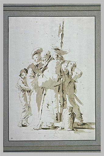 Groupe de quatre figures debout