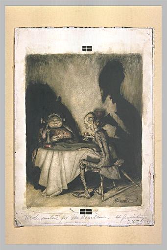 Caricarure de Jack Sprat et de sa femme