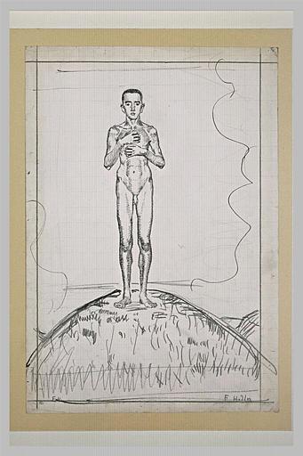 Jeune homme nu, vu de face
