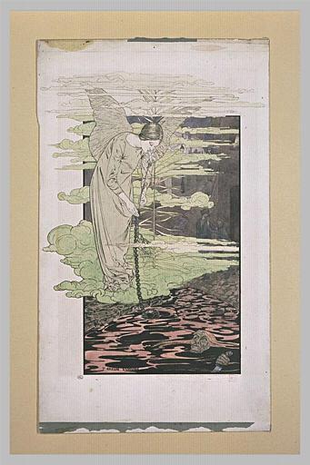 Le Rêve : femme ailée se penchant