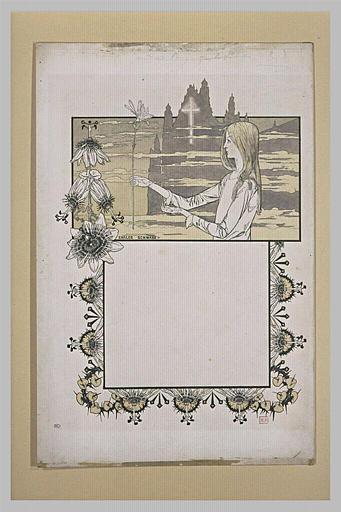 Le Rêve : femme tenant une fleur