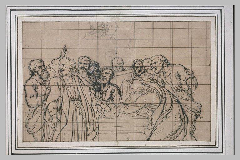 Les apôtres visitant le tombeau de la Vierge