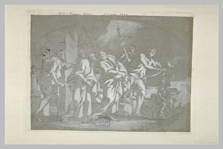Séparation des apôtres saint Pierre et saint Paul