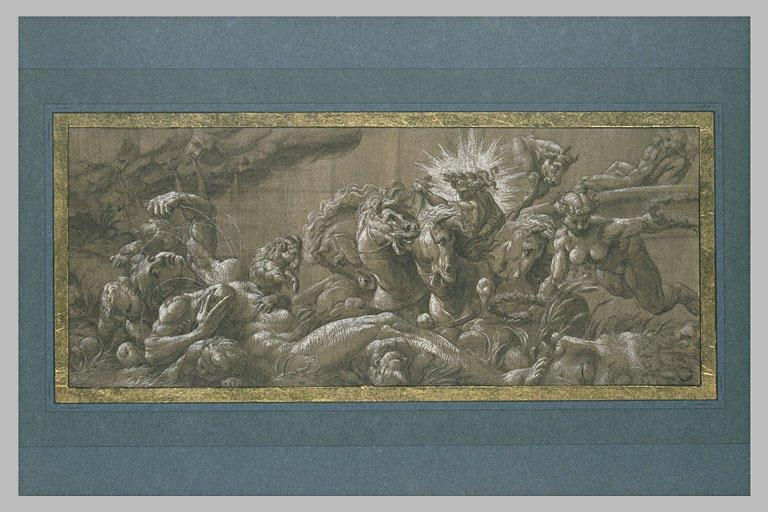 Apollon sur le Char et des signes du Zodiaque : allégorie du Printemps