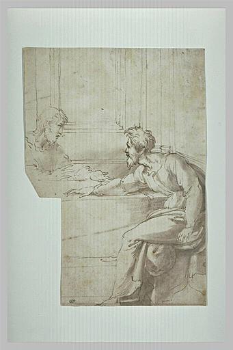 Deux apôtres, assis à une table, d'après la Cène