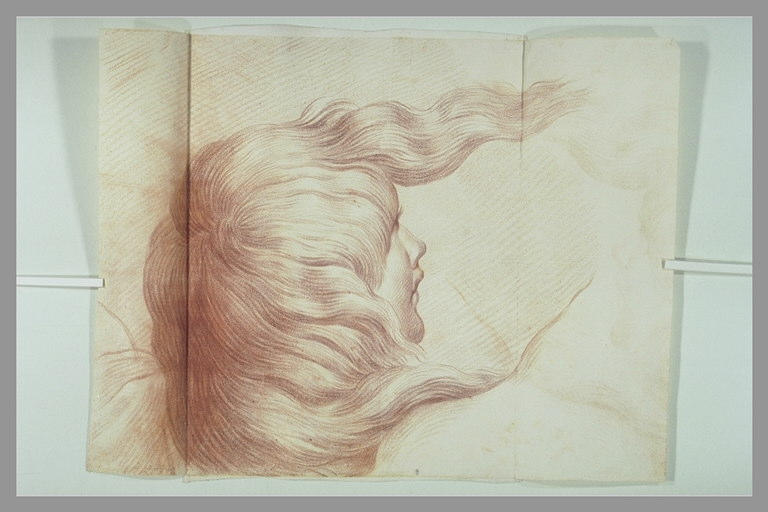 SANTI Raffaello (d'après), RAPHAEL (dit, d'après), anonyme : Tête de femme : figure de l'Incendie du Bourg