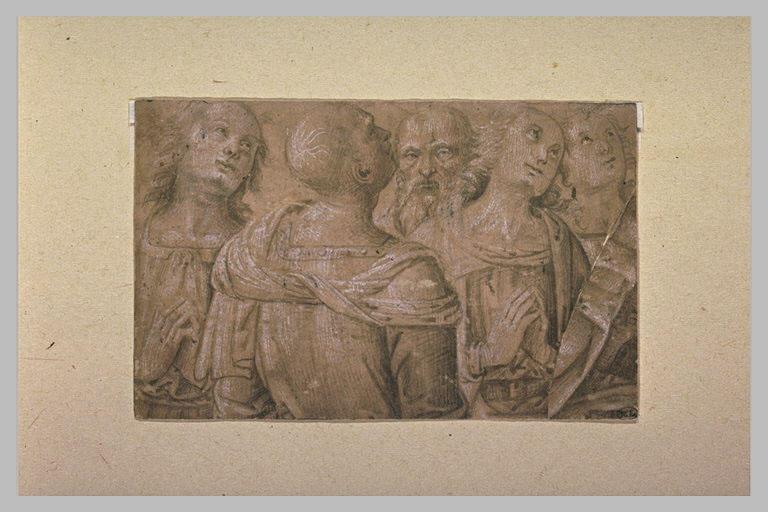Cinq apôtres, vus à mi-corps