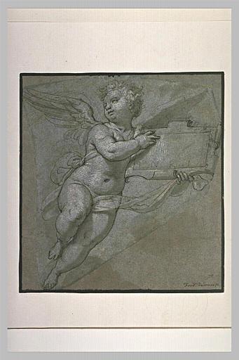 Un ange portant un cartel