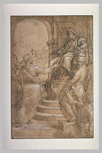 Moïse et Aaron comparaissant devant Pharaon