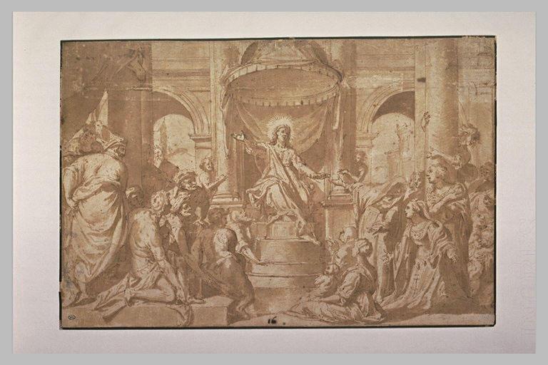 Le Christ prêchant dans le Temple convertit Marie Madeleine_0
