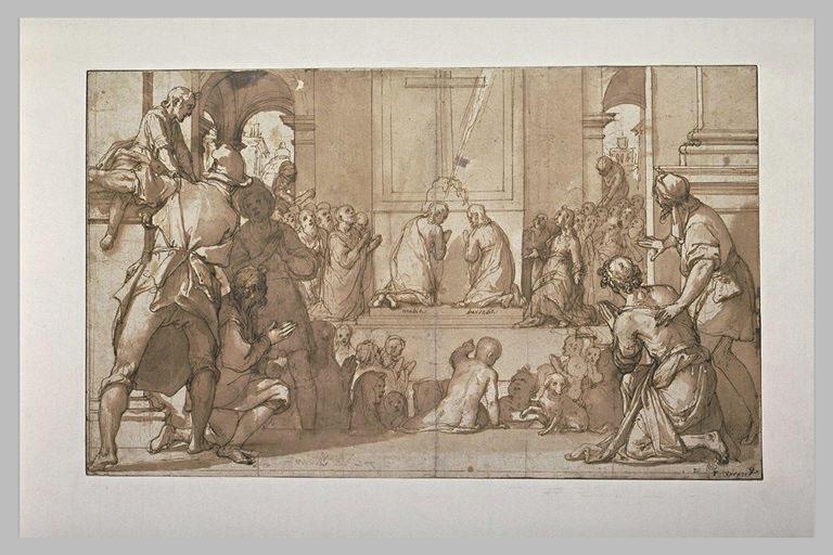 Saint Matthias et saint Barnabé implorant Dieu pour prendre la place de Juda