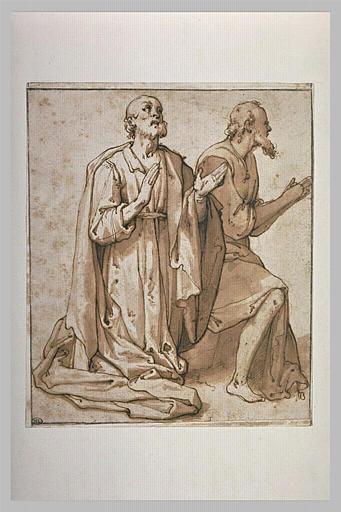Deux apôtres en adoration