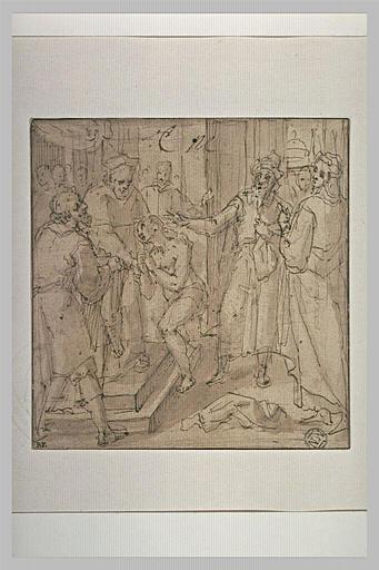 Saint François en dévotion après avoir rendu ses habits à son père