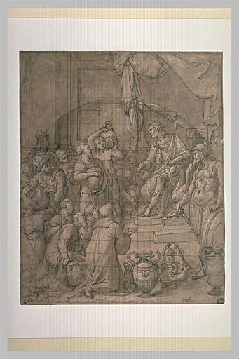 Les trois guerriers apportant au roi David l'eau du puits de Bethléem