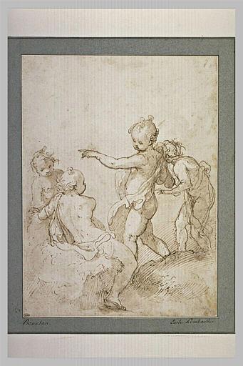 Quatre figures de jeunes enfants