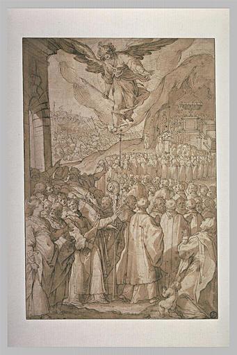 Procession pendant une bataille contre les turcs