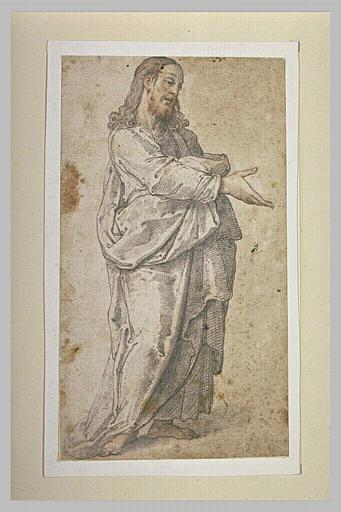 Jésus-Christ, debout, tendant la main droite