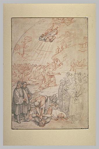 Scènes de meurtre, avec un homme tombant du ciel