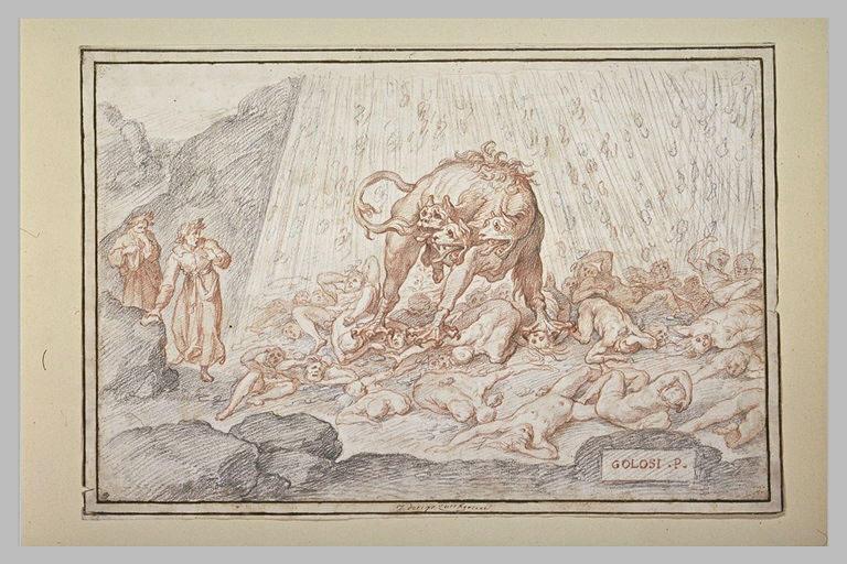 Voyage de Virgile et Dante aux Enfers