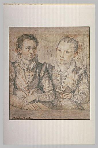 Portrait de deux jeunes filles, en buste
