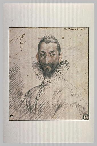 Portrait d'un homme portant une fraise
