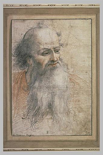 Tête d'homme à longue barbe