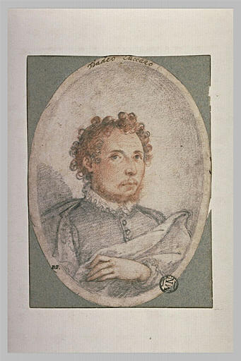 Portrait d'homme, la main gauche sur la poitrine