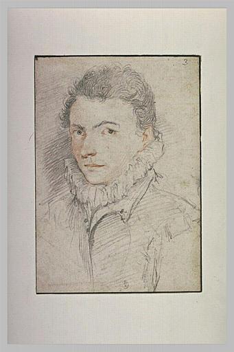 Portrait d'homme avec une  collerette