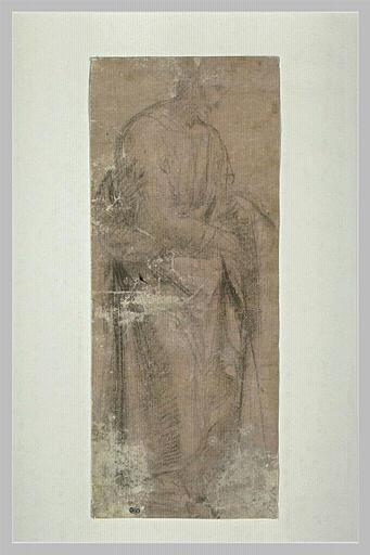 SOGLIANI Giovannantonio di Francesco (attribué à) : Homme drapé, debout, tourné vers la droite