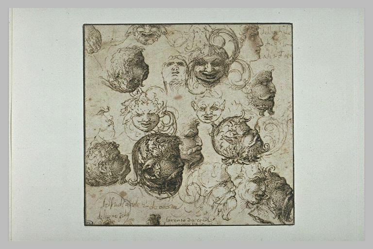 Etudes de masques-feuilles