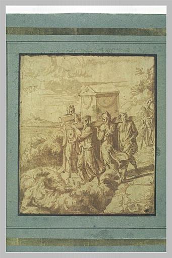 Josué faisant porter l'arche d'alliance au milieu du Jourdain