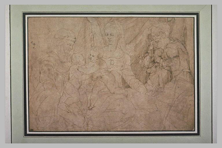 L'Enfant Jésus embrasse saint Jean présenté par sainte Anne, et saint Joseph