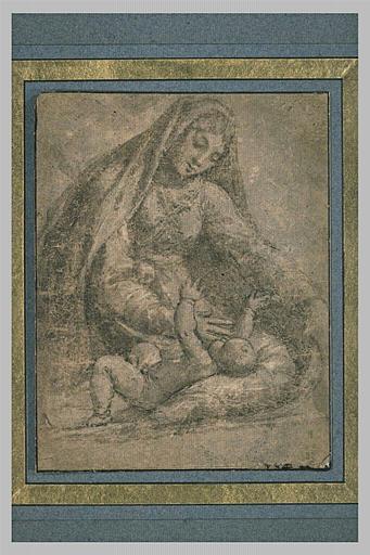 La Vierge assise jouant avec l'Enfant Jésus