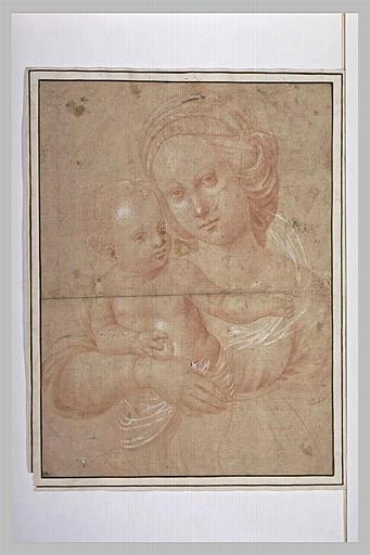 La Vierge et l'Enfant, vus en buste