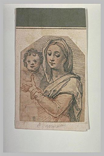 La Vierge soutenant l'Enfant Jésus