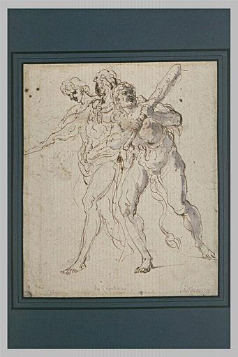 Hercule et deux hommes musclés