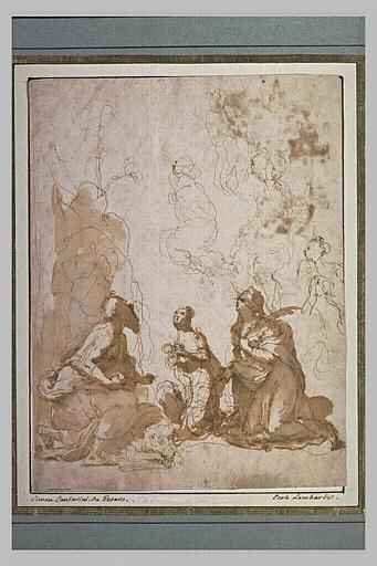 Trois saints en adoration