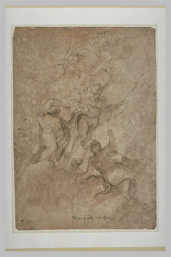 Jupiter confiant Bacchus à Mercure