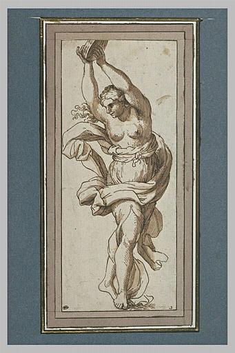 Une femme dansant et jouant du tambour