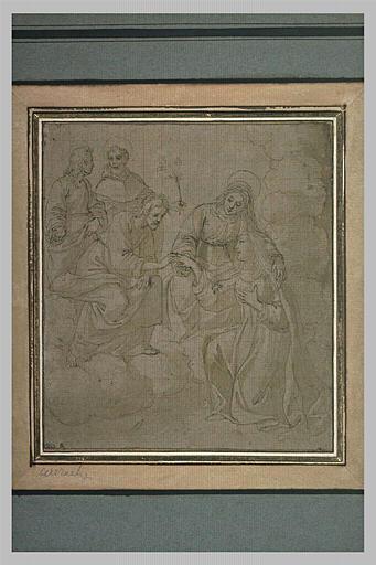La Vierge présentant une sainte à Jésus-Christ_0