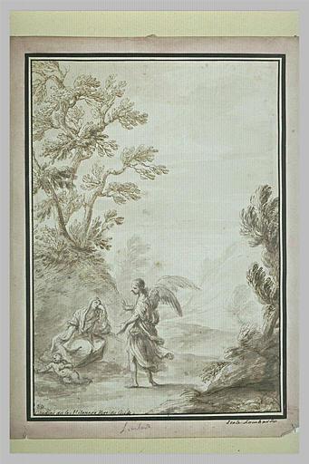 Agar et Ismaël dans le désert, consolés par un ange