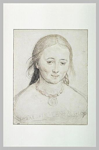 Portrait de jeune femme en buste, souriant