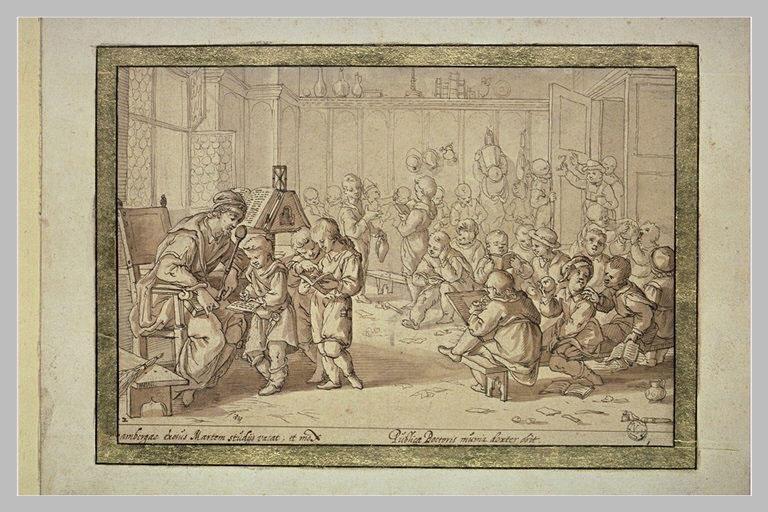Saint Annon professant à l'école de Bamberg