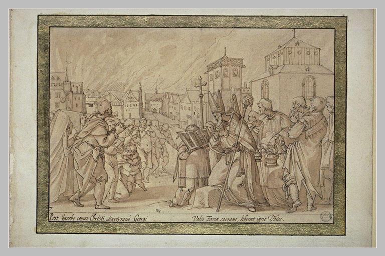 Saint Annon arrête un incendie à Cologne