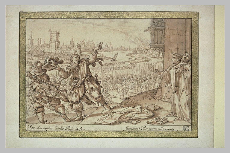 Le comte Henri, moine infidèle, s'enfuit du couvent