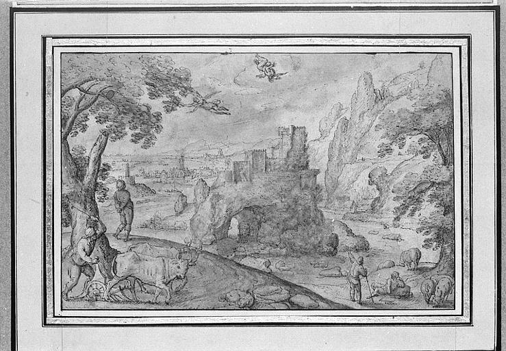 Paysage avec les figures ailées de Dédale et Icare