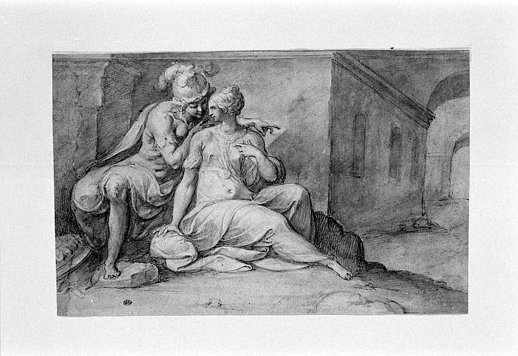 Théagène et Chariclée dans la caverne de l'île des Pâtres