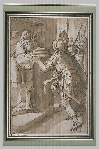 Abraham offrant le pain à Melchisedech